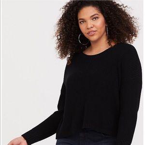 Torrid Black Crop Pullover Sweater size 2